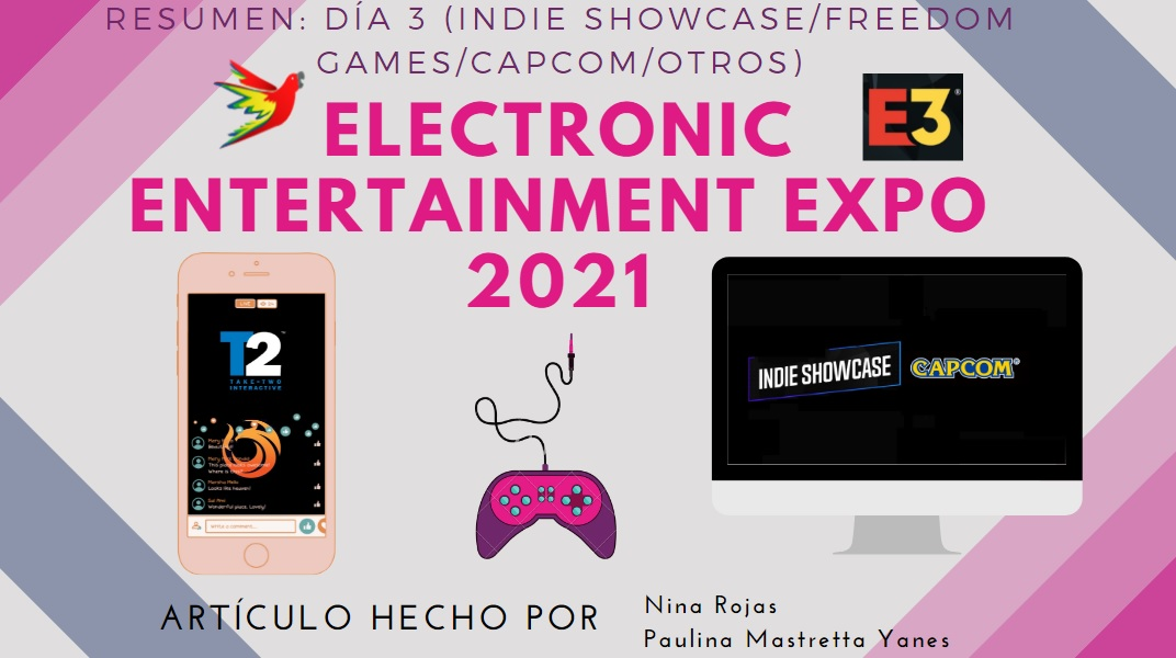 Resumen E3 2021 Día 3 Indie Showcase, Freedom Games, Capcom y Take Two