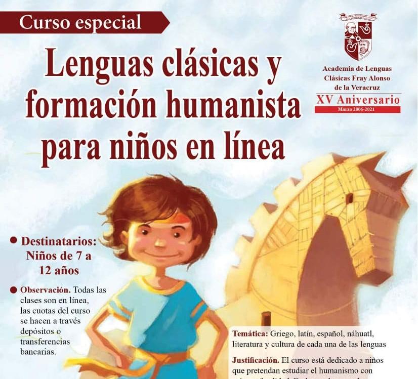 Lenguas clásicas y formación humanista para niños en línea