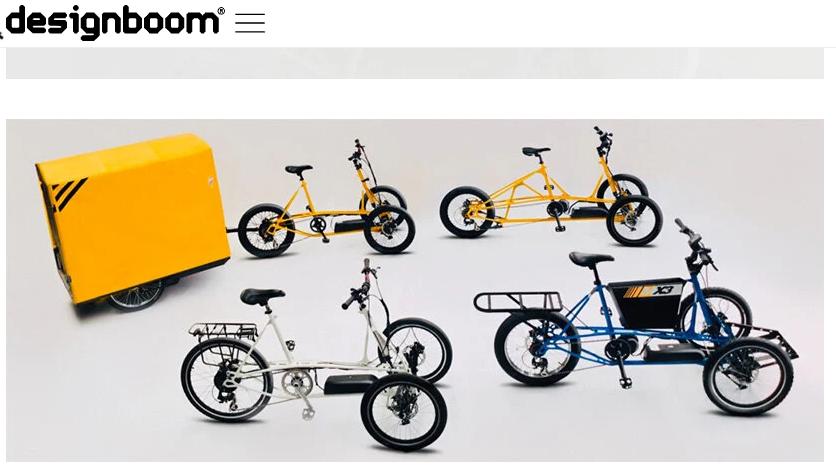 Design Boom: Mastretta Bikes presenta el triciclo de carga eléctrico inclinado MX3