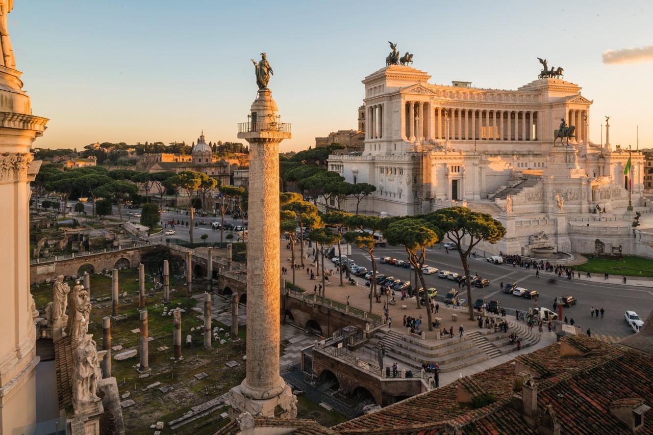 La columna de Trajano, un monumento en honor al emperador hispano